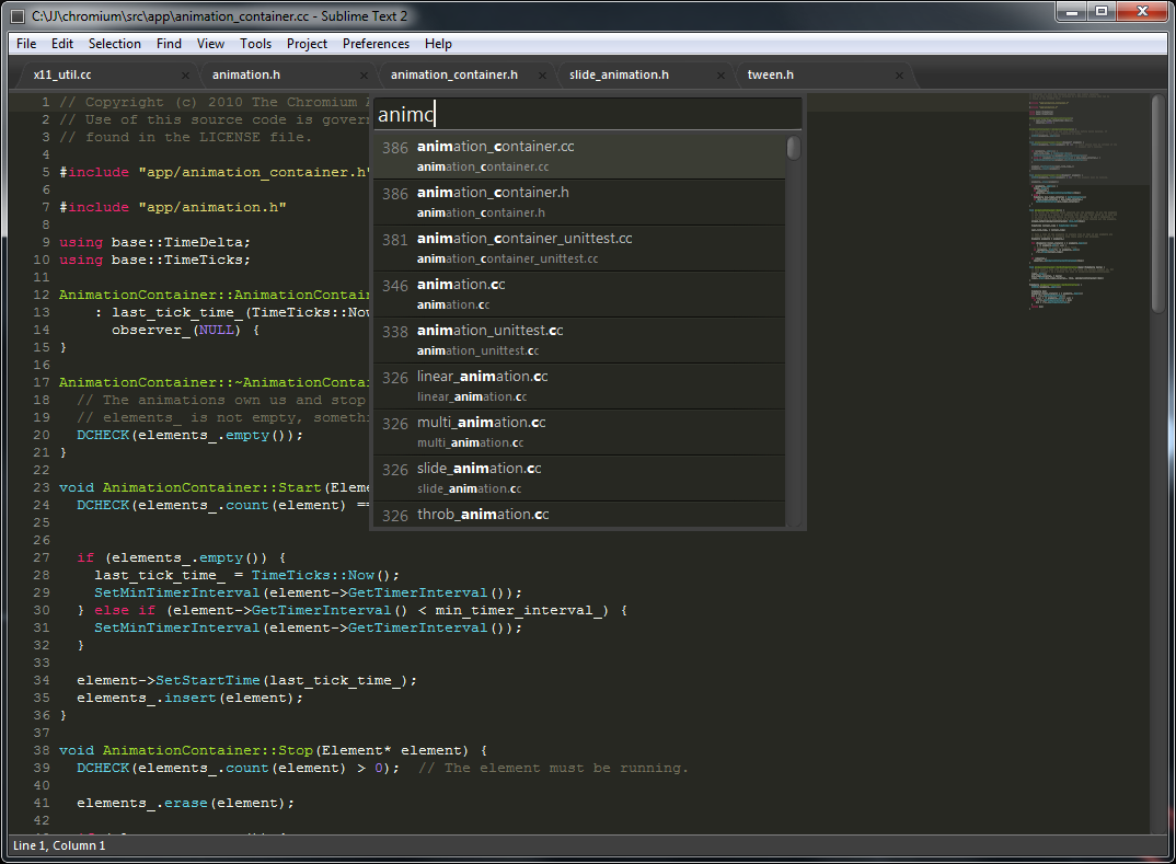 Photo of Sublime Text 2 with code open