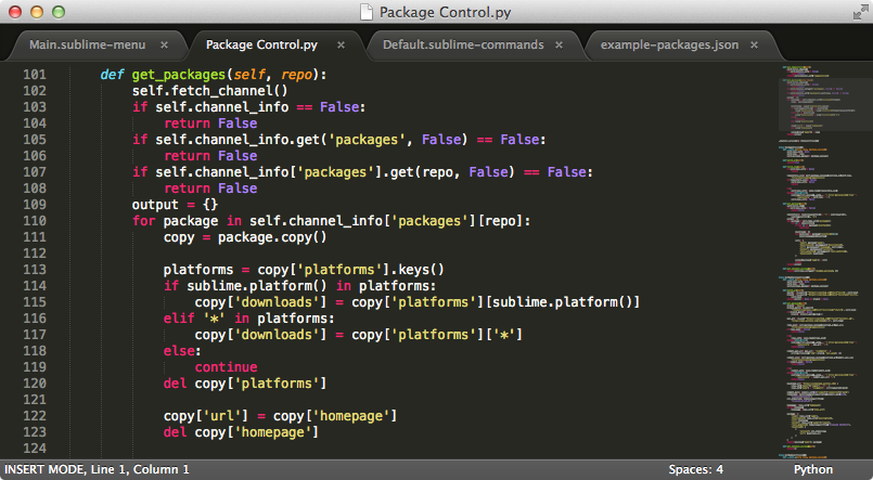 Sublime Text 2 Screenshot